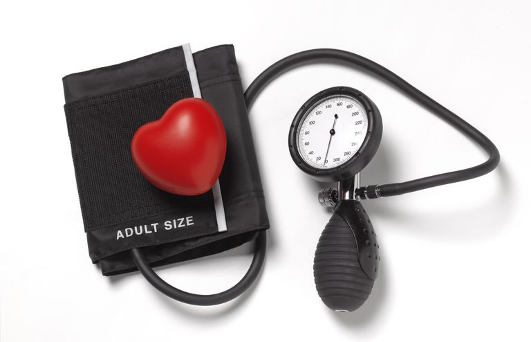 Blood pressure gauge with heart