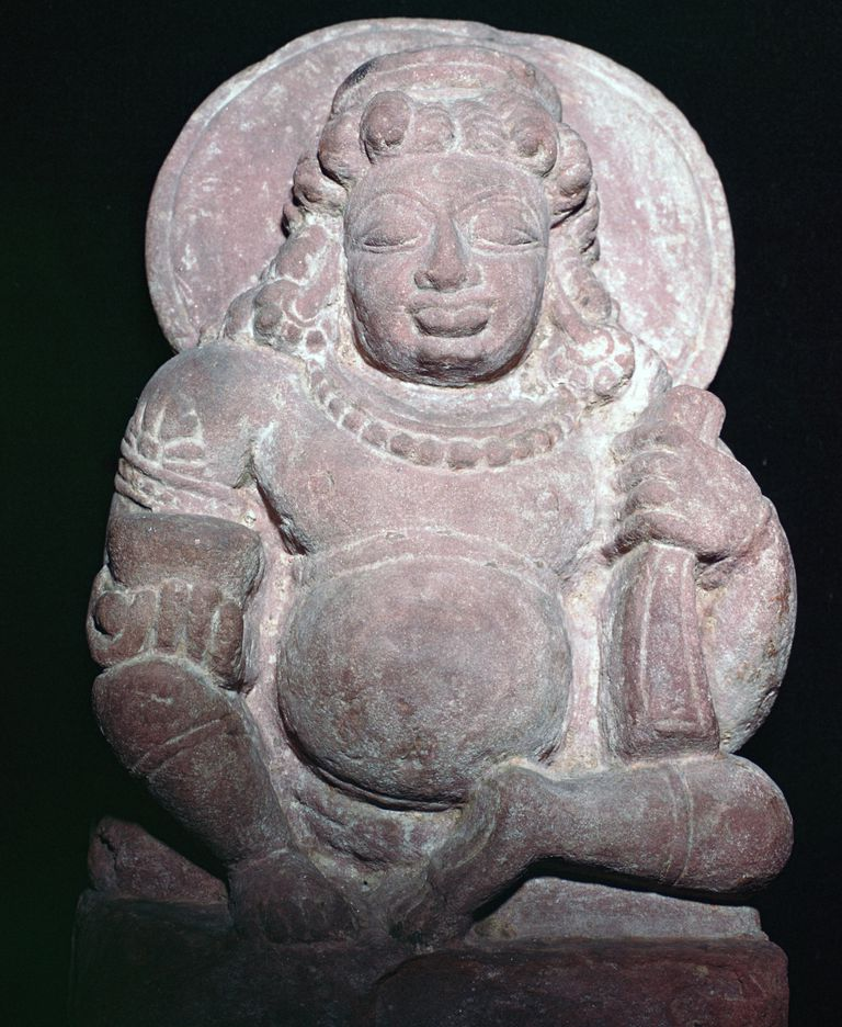 Statuette of the Vedic and Hindu god Kuvera.