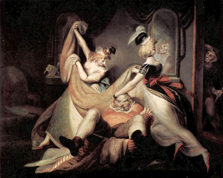 "The Merry Wives of Windsor: ""Falstaff in the Washbasket"" by Henry Fuseli"