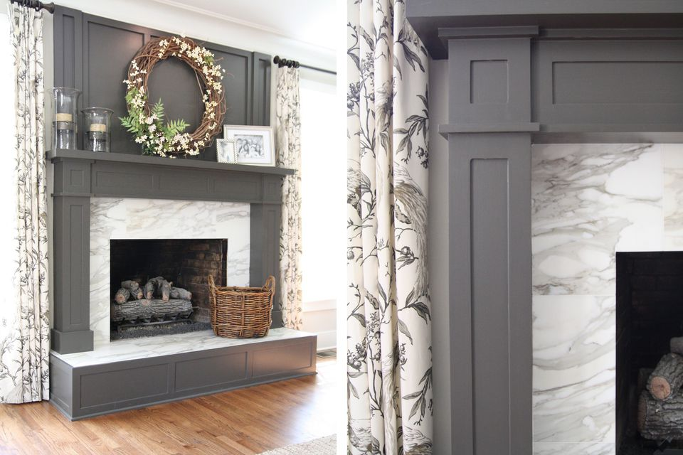 moore plans fireplace millwork transitional benjamin surround room living marble tile for intended