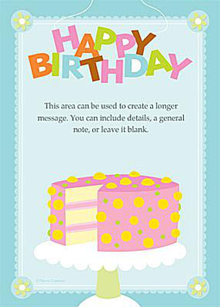 birthday card printouts