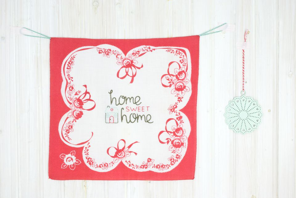 Home Sweet Home Handkerchief Wall Hanging