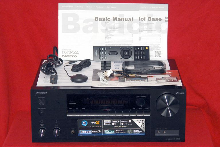 Onkyo TX-NR555 7.2 Channel Home Theater Receiver - Package Contents