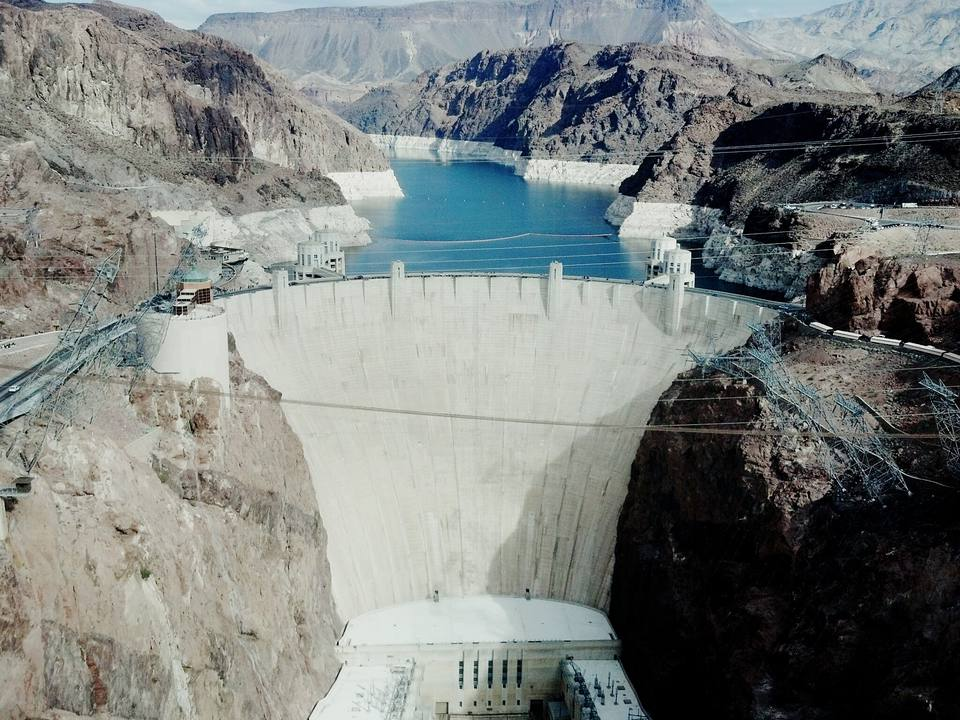 High Angle View Of Hoover Dam