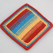 Free crochet dishcloth patterns for your kitchen colorful striped crochet dishcloth worked in afghan stitch aka tunisian simple stitch dt1010fo