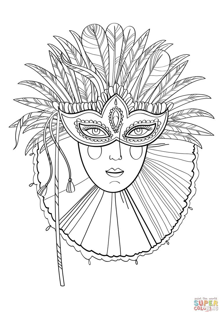 Super Colorings Free Mardi Gras Coloring Pages