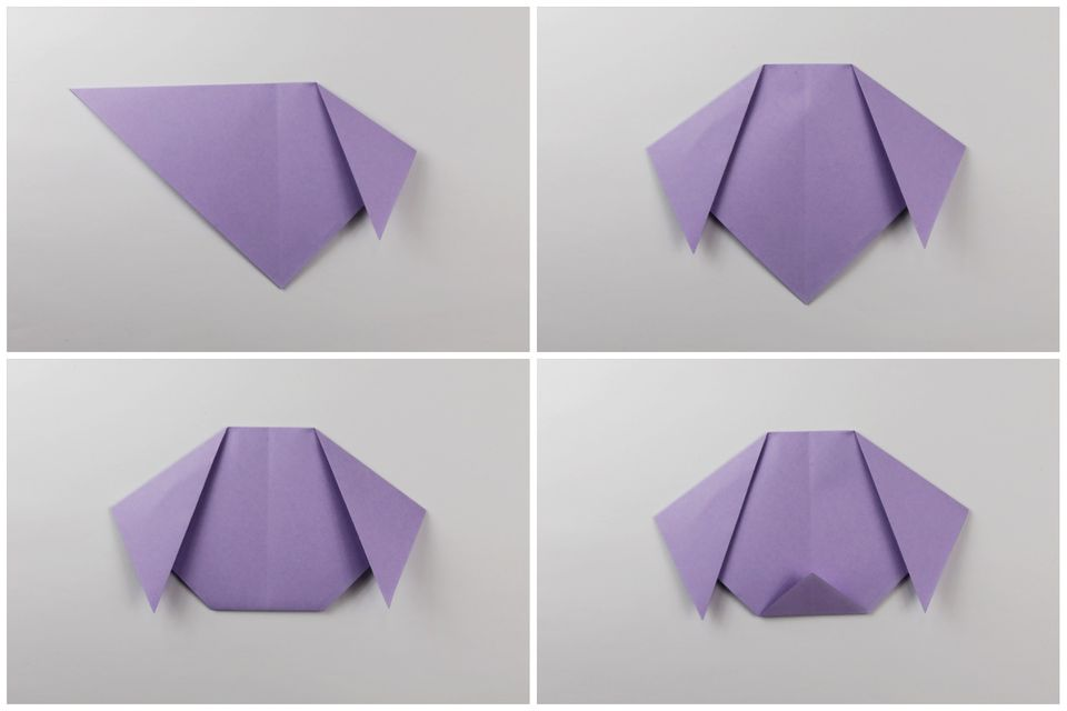 easy origami puppy face instructions
