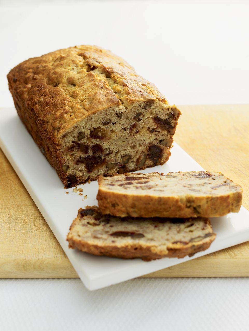 Banana, date, and walnut loaf