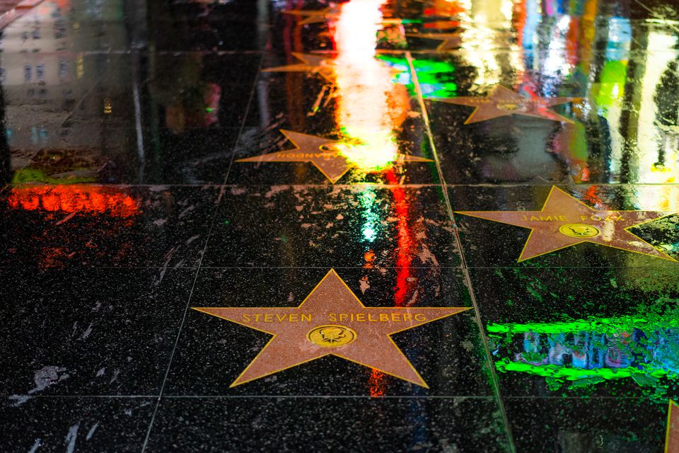 Rainy Day in Los Angeles on Hollywood Boulevard
