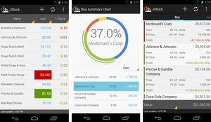 JStock Android stock market app.