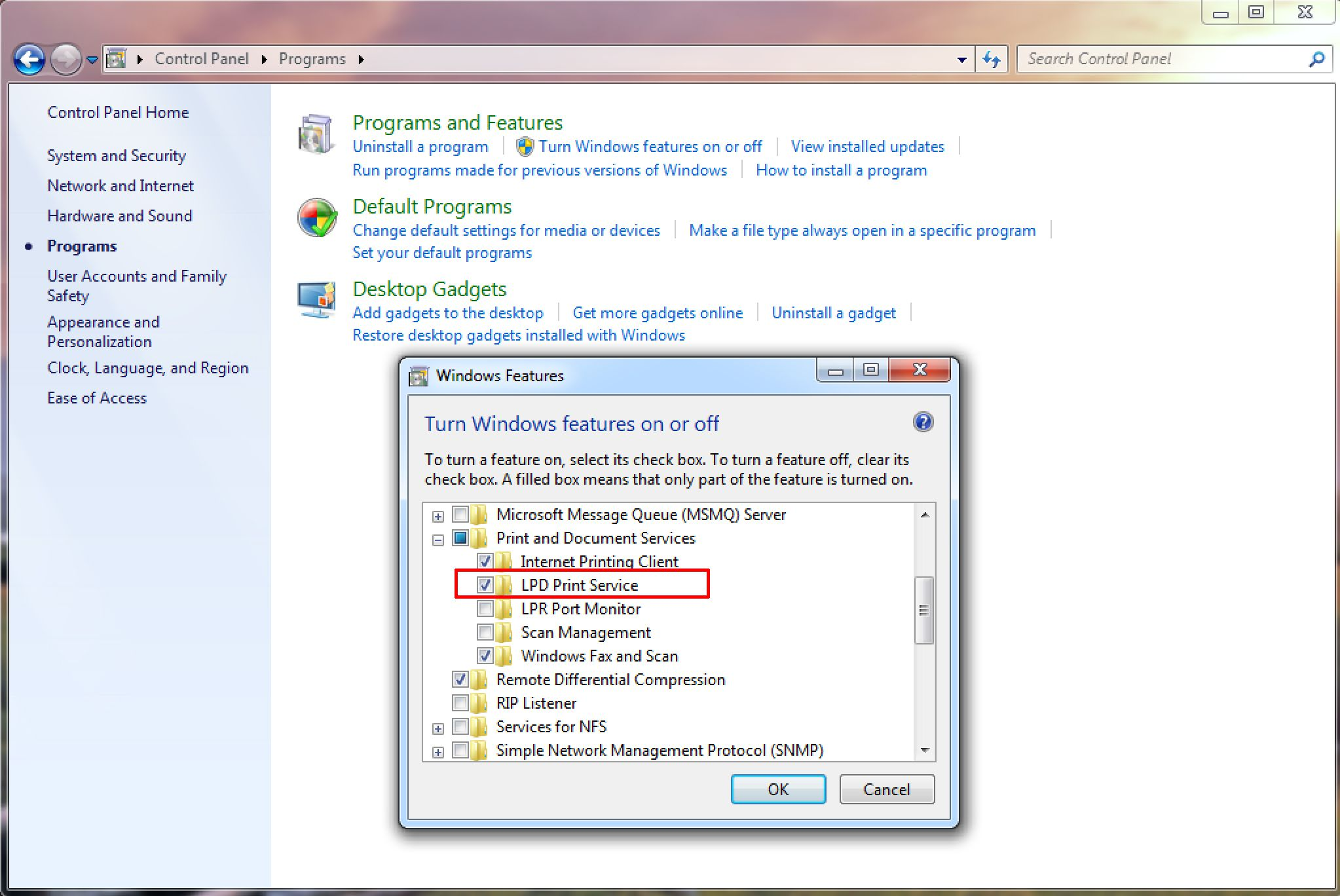 Your Windows 7 Printer With Your Mac