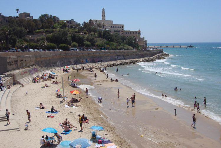Beach at Jaffa in Te Aviv