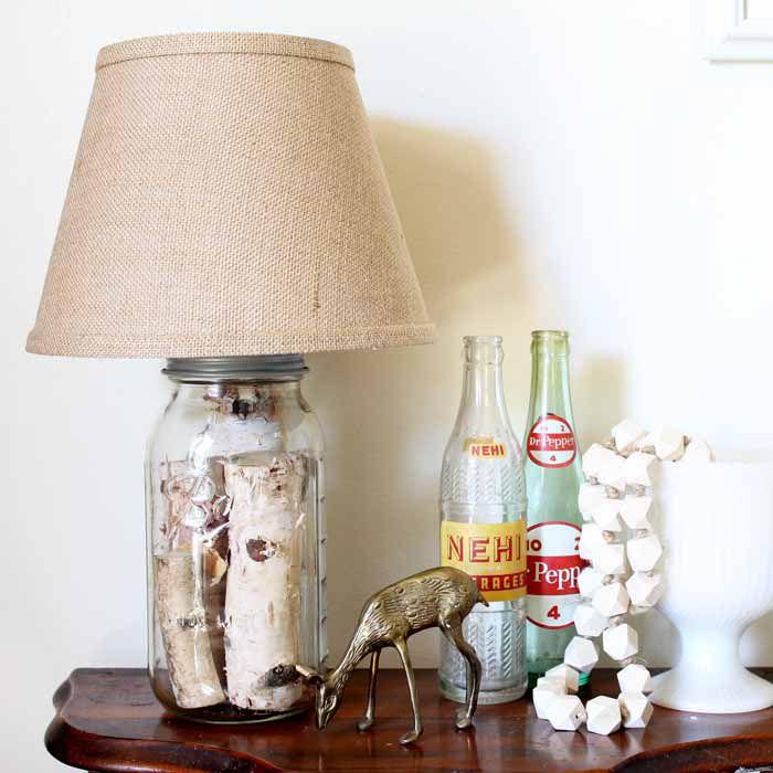 50 mason jar diy projects we love diy mason jar table lamp aloadofball Gallery