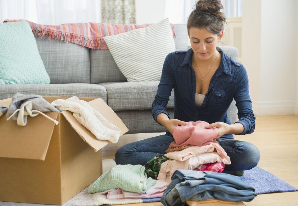 sorting clothing