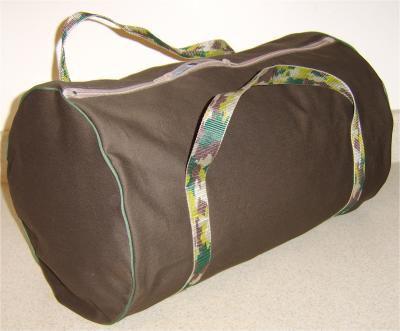 free pattern to sew a duffel bag