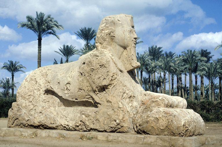 Sphinx at Memphis Near Cairo
