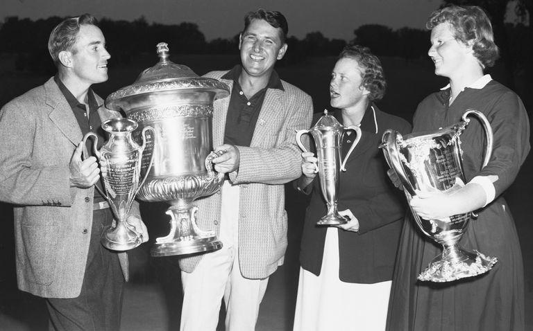 Golfers Frank Stranahan, Lew Worsham, Petty Berg and Wiffi Smith