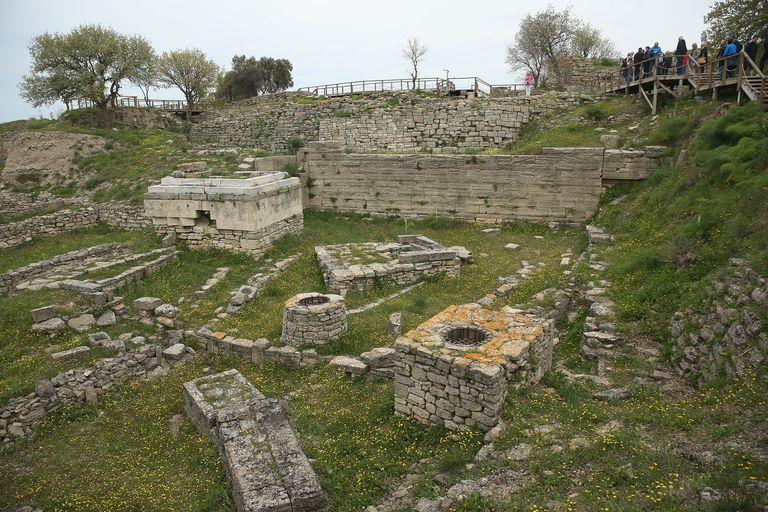Excavated Ruins of Troy (Hisarlik), Turkey
