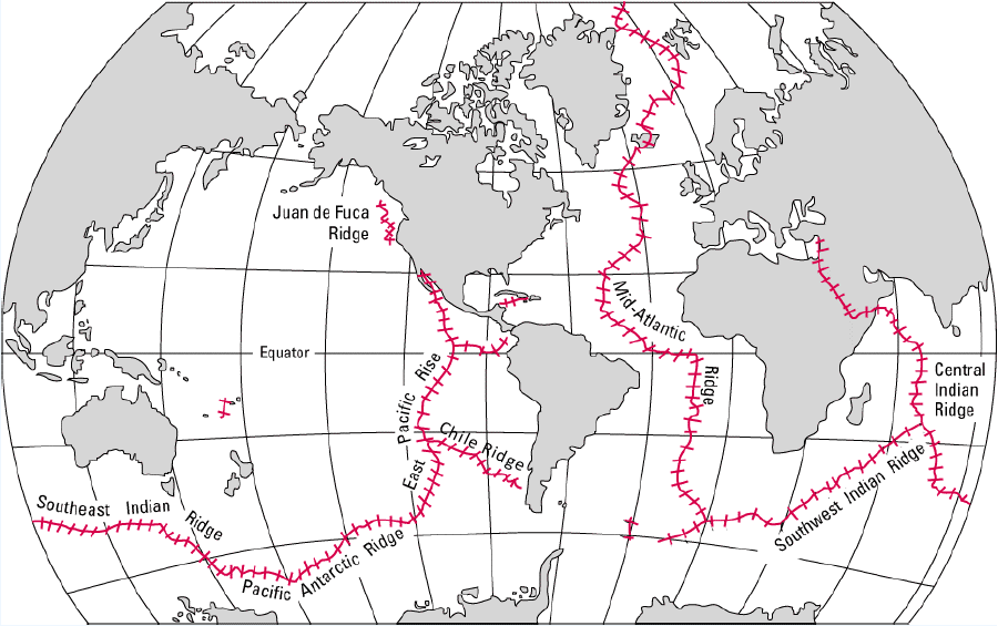Map of the mid ocean ridges gumiabroncs Image collections