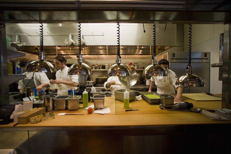 Restaurant kitchen and chefs