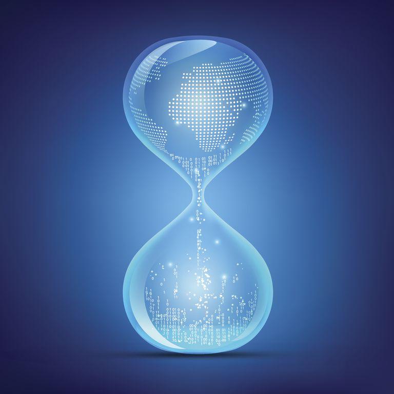 Reloj digital de arena