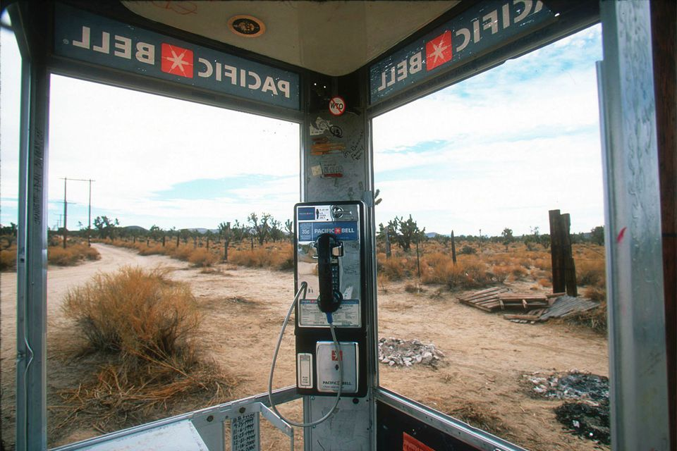 View from the Loneliest Phone Booth on Earth, 1999
