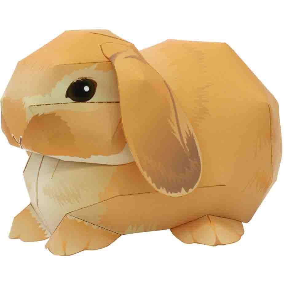 3d paper bunnie
