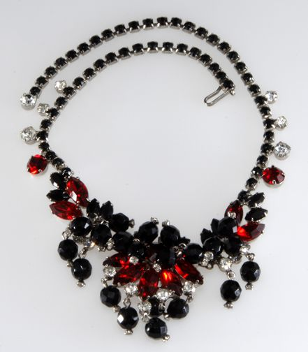 Vintage costume jewelry identification and value guide for Red black and green jewelry