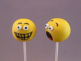 Edible markers used on Smiley Face Cake Pops