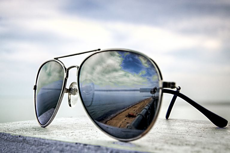 Sunglasses can help with headaches.