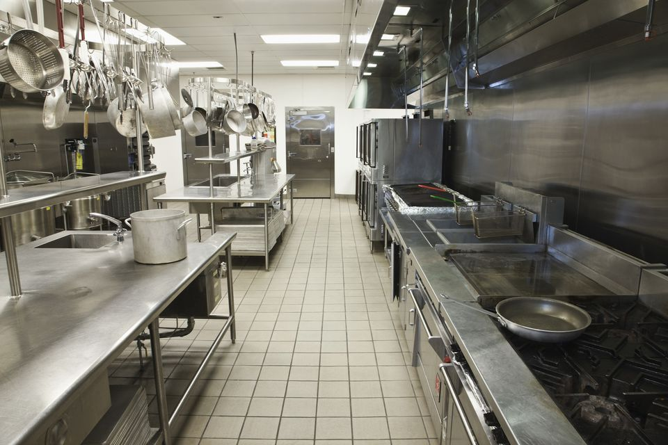 Empty commercial kitchen