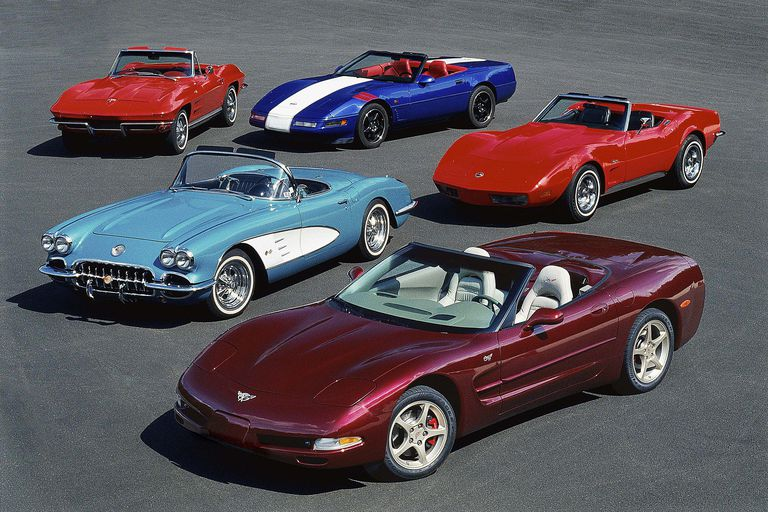 5 Generations of Corvette