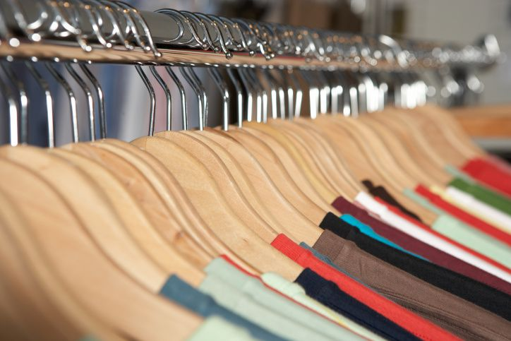 organize your closet with matching hangers