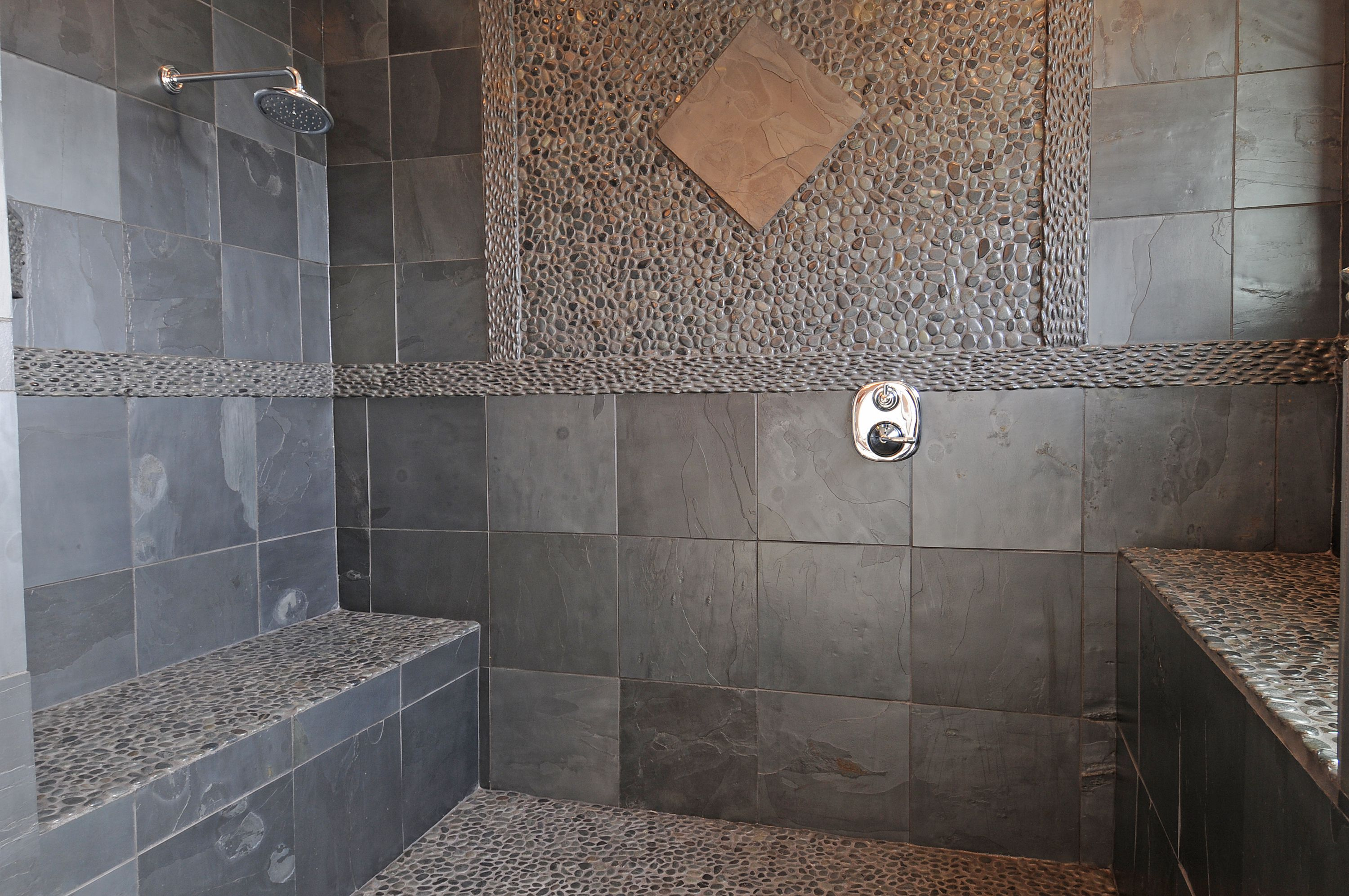 Natural stone bathroom floor should you install it can you use natural stone in a shower tile flooring doublecrazyfo Images