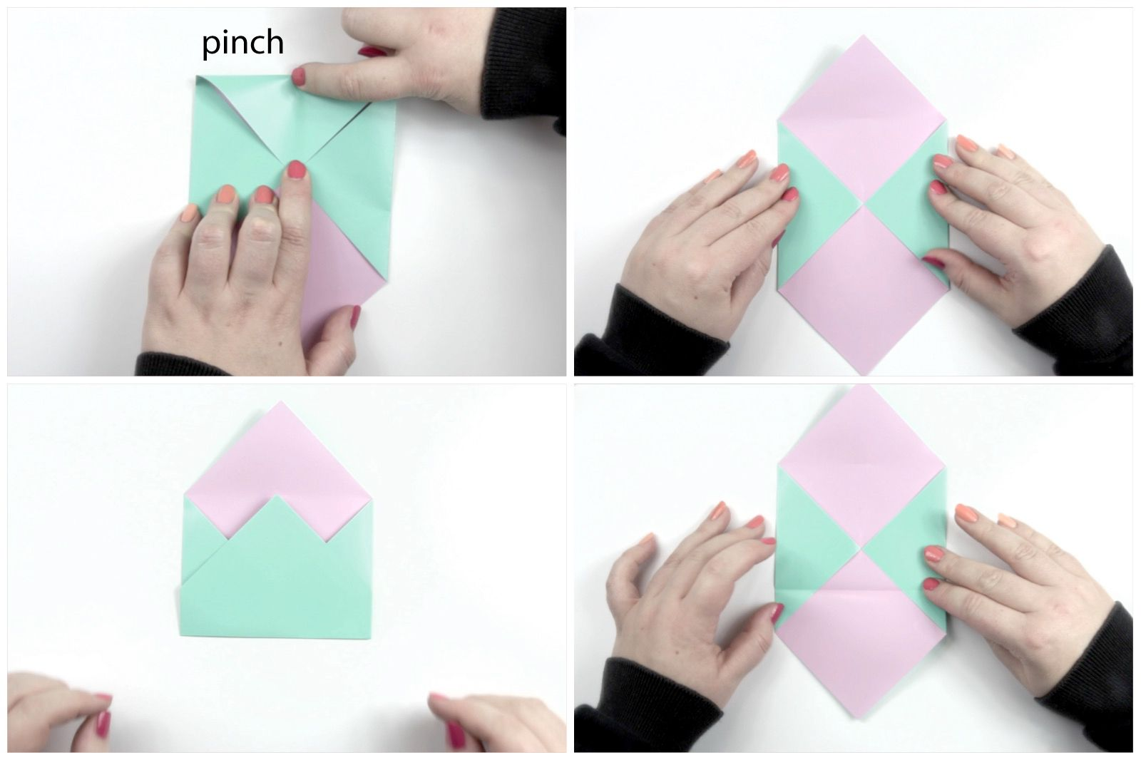 How to Make a Small Paper Envelope Without Glue - Easy Tutorials ... | 1066x1600