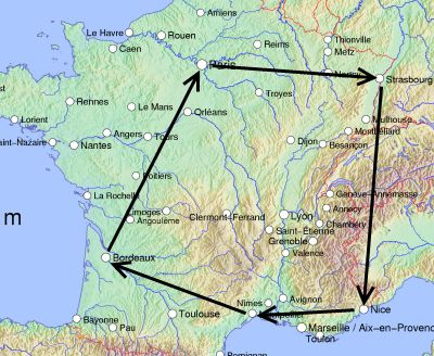 France Itinerary of Major Cities itinerary