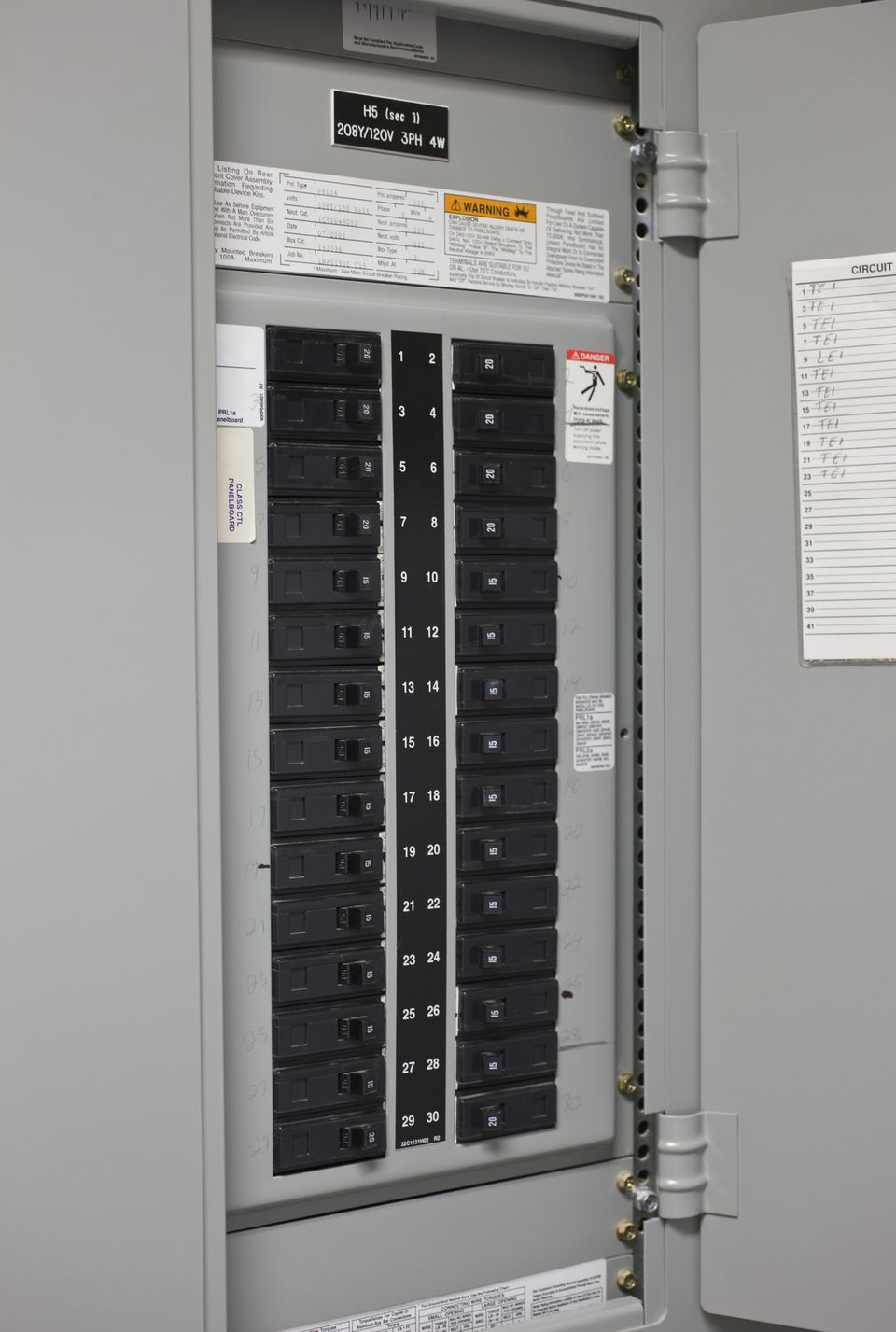 Burnt Circuit Breaker Panel Smart Wiring Diagrams Fuse Box Electrical Safety Checklist Mini Challenger