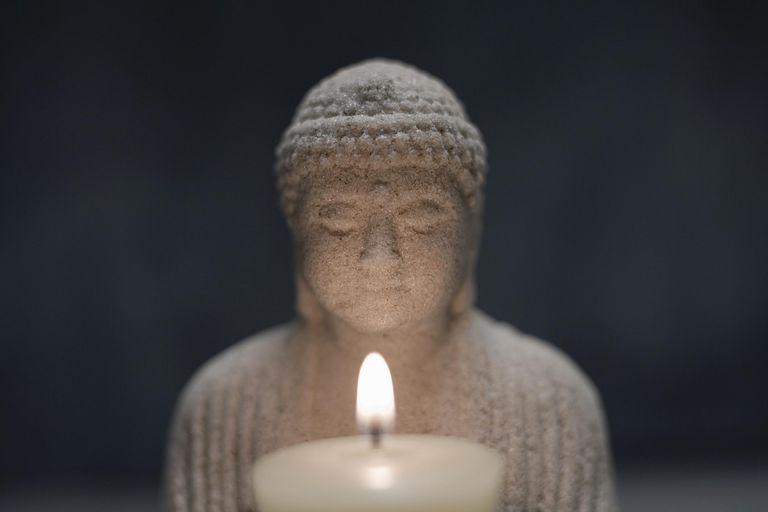Buddha With Candle