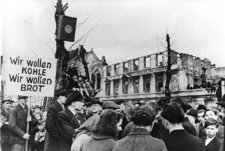 Germans protesting