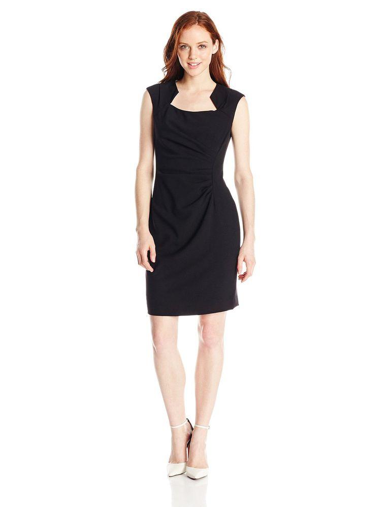 Calvin Klein Women's Petite Cap-Sleeve Sheath Dress