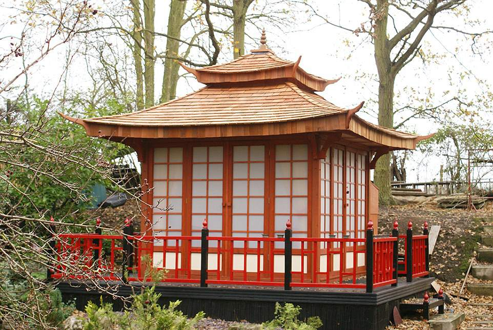 16 Epic She Sheds and He Sheds Tea House Design Cedar on cedar home design, cedar greenhouse design, cedar shed design,
