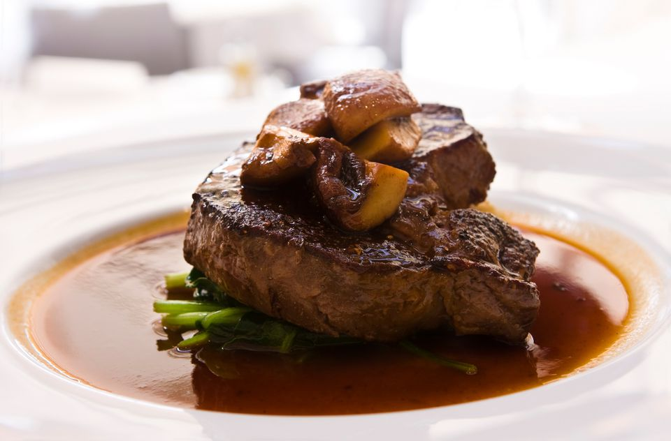 Mushroom sauce for roasts and steaks