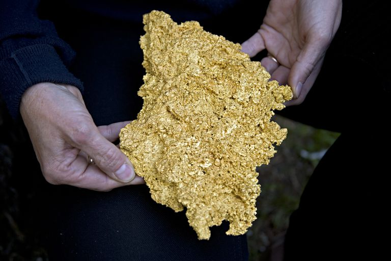 Gold sometimes occurs in nature as a pure element.