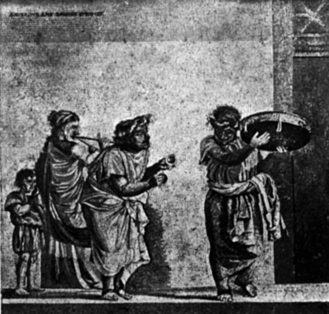 Comedy From Fresco in Pompeii