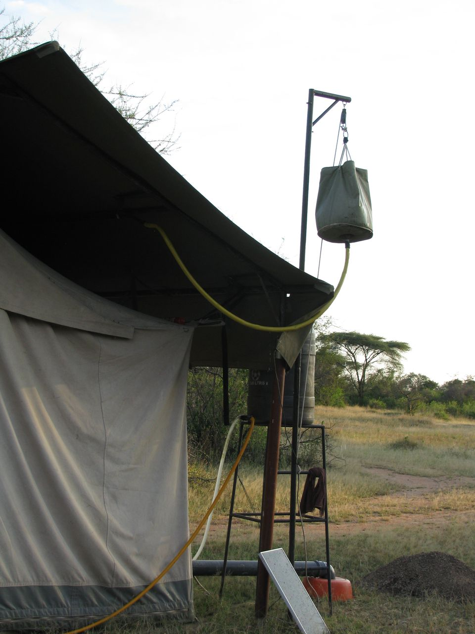 Bucket Shower Mobile Tented Camp, Serengeti