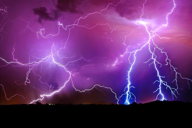 PM lightning storm-Arlington, AZ