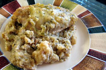 Crockpot Chicken and Stuffing Recipe with Swiss Cheese