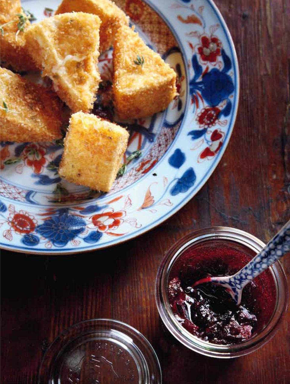 Fried Camembert and Cranberry Sauce