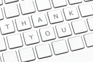 Thank you on keyboard