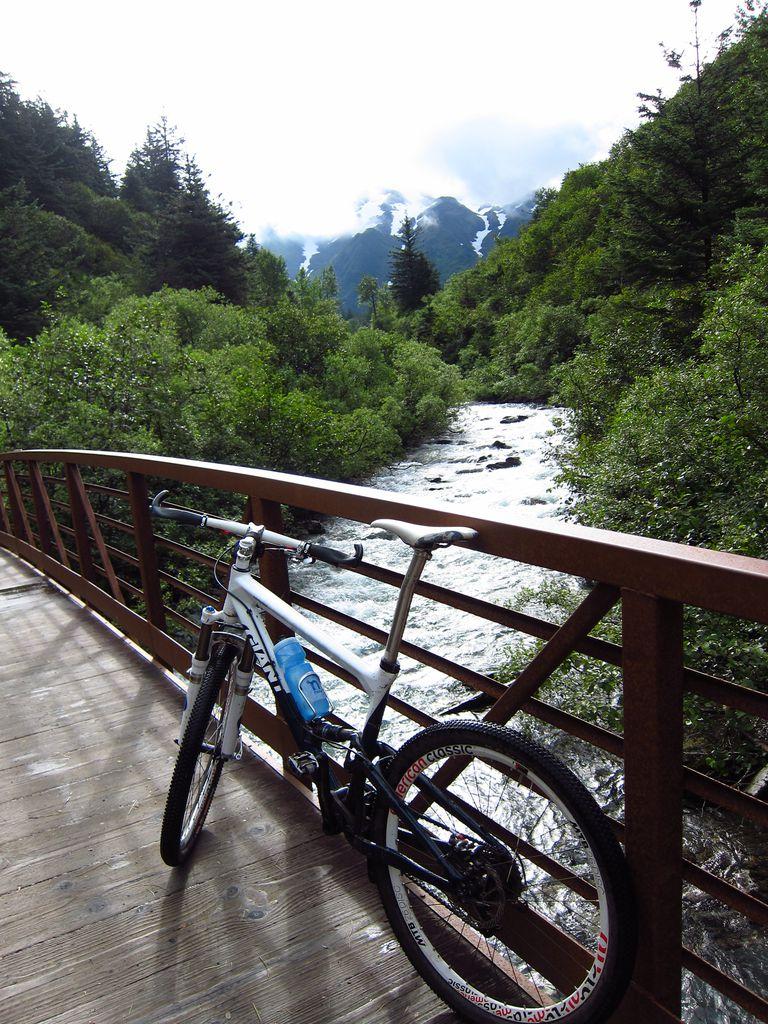Mountain Biking the Perseverance Trail, Juneau, Alaska